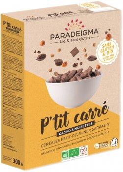 Кранчи Paradeigma из гречневой муки с какао и лесным орехом 300 г (3760152700841)