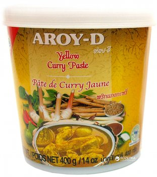 Паста карри Aroy-D Желтая 400 г (016229906436)