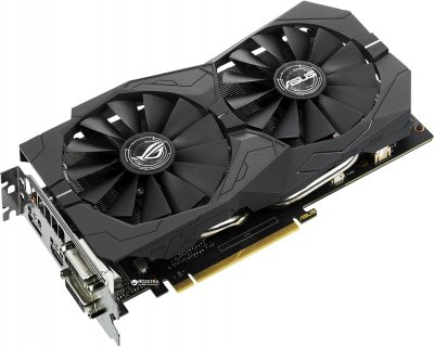 Asus PCI-Ex GeForce GTX 1050 Ti ROG Strix 4GB GDDR5 (128bit) (1290/7008) (2 x DVI, HDMI, DisplayPort) (STRIX-GTX1050TI-4G-GAMING)