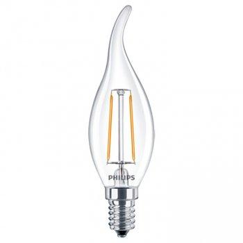 Світлодіодна лампа Philips LED Fila 2.3-25W E14 WW BA35 ND свічка на вітрі филаментная (929001180307)