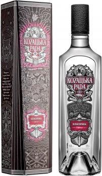 Водка Козацька рада Классическая 0.7 л 40% в подарочной упаковке (4820080726937)
