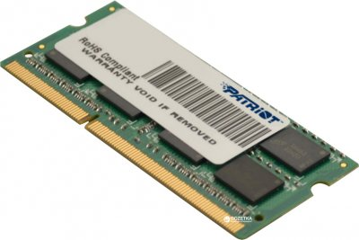 Оперативна пам'ять Patriot SODIMM DDR3-1600 8192MB PC3-12800 (PSD38G1600L2S)