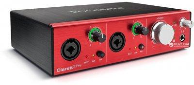 Аудіоінтерфейс Focusrite Clarett 2 Pre (221267)