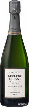 Шампанське Leclerc Briant Brut Millesime 2007 біле сухе органічне 0.75 л 12% (3465020000596)