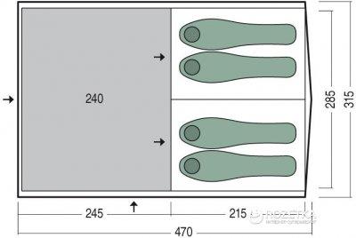 Намет Pinguin Interval 4 Air Tube Green (8592638143584)