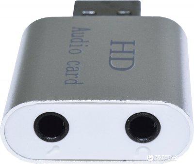 Адаптер Dynamode USB C-Media 108 7.1 каналів, алюміній Срібляста (USB-SOUND7-ALU silver)