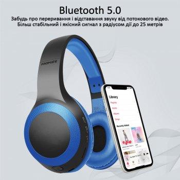 Накладні Bluetooth навушники Promate LaBoca Bluetooth 5.0 Blue (laboca.blue)