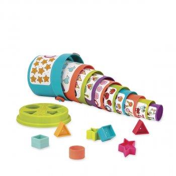 Ігровий набір Battat Lite Сортер-пірамідка 2 в 1 (BT2529Z) (6900006493704)