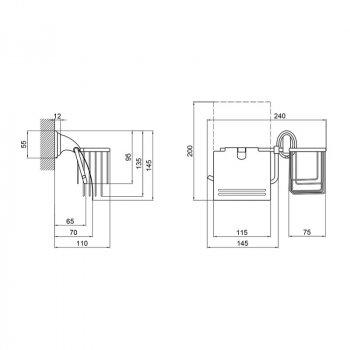 Тримач для туалетного паперу Lidz (CRM)-113.03.02 SD00028349