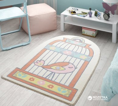 Коврик для детской комнаты Confetti Happy Cage 100х150 см Salmon (8670318276316)