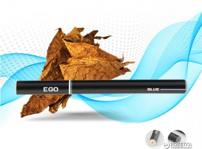 Одноразова електронна сигарета EGO Vaporizer 12 мг Blue (Тютюн) (6970380415128)