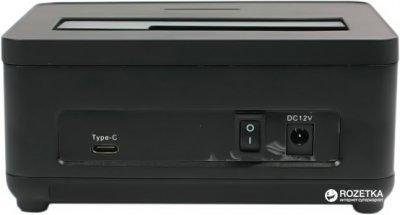 "Док-станция Agestar для HDD 2.5""/3.5"" USB 3.1 Type-C (31UBT7C Black)"