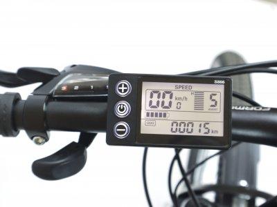 """Электровелосипед 29"""" F-1 350Вт 36В, 12.5Ач, макс.пробег 40км, 40 км/ч черно-белый"""