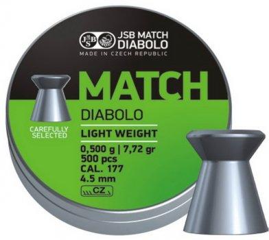 Свинцеві кулі JSB Match Diabolo Light 0.5 г 500 шт. (000006-500)