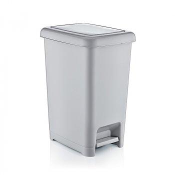 Відро для сміття з педаллю 10 л Slim Dunya Plastik 01042, Сірий