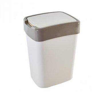 Відро для сміття 45 л Євро Алеана, Білий/Бежевий