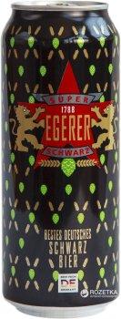 Упаковка пива Egerer Super Schwarz темне фільтроване 4.9% 0.5 л x 24 шт. (4025243788115)