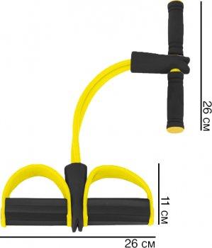 Еспандер Reystyle для м'язів ніг, рук і грудей Жовтий (2000992405898)