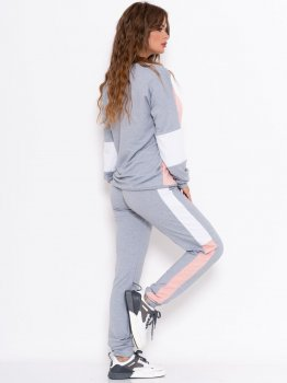Спортивний костюм ISSA PLUS 10996 Сірий