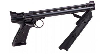 Пневматичний пістолет Crosman American Classic P1377 чорний мультикомпресійний 183 м/с