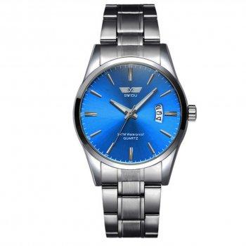 Мужские часы Swidu SWI-021 Silver-Blue (3089-8714)