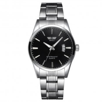 Мужские часы Swidu SWI-021 Silver-Black (3089-8713)