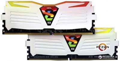 Оперативна пам'ять GeIL DDR4-3000 16384MB PC4-24000 (Kit of 2x8192) Super Luce RGB Lite AMD Edition (GALWC416GB3000C16ADC)