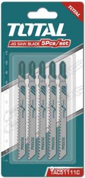 Пиляльні полотна для лобзика Total 5 шт. (TAC51111C)