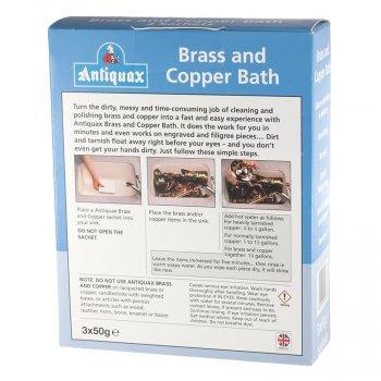 Очищувач для латуні і міді Antiquax Brass and Copper Bath 150 грам