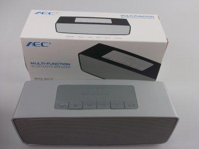 Bluetooth колонка AEC BQ-617 MP3/FM Sound Machine (Silver)