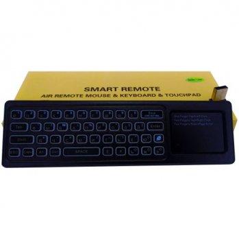 Клавиатура Гироскопическая Air Mouse T8 plus Keyboard РУС Touchpad Аккумулятор Подсветка Голосовой набор