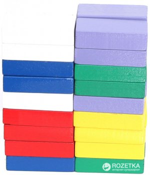 Деревянные бруски Руді разноцветные 36 деталей (Ду-64)