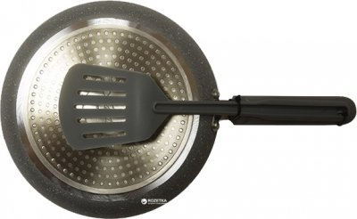 Сковорода для блинов Maestro Rainbow Granite с лопаткой 23 см (MR1212-23)