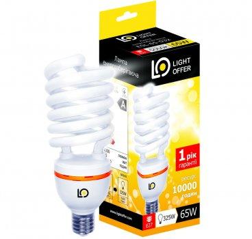 Енергозберігаюча лампа Light Offer Т4 Spiral ЕSL 65W E27 5000К 4000Lm (ЕSL - 65 - 032)