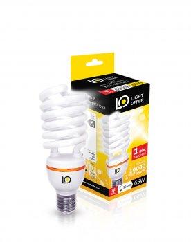 Енергозберігаюча лампа Light Offer Т4 Spiral ЕSL 65W E40 5000К 4000Lm (ЕSL - 65 - 033)