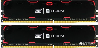 Оперативна пам'ять Goodram DDR4-2400 8192MB PC4-19200 (Kit of 2x4096) Iridium Black (IR-2400D464L17S/8GDC)