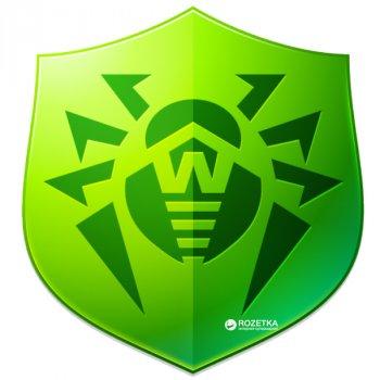 Антивірус Dr.Web Anti-virus 3 ПК/1 рік (поновлення ліцензії, електронний ключ у конверті)