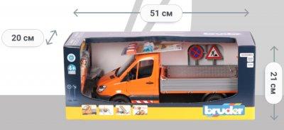 Машинка Bruder Mercedes-Benz Sprinter Дорожная служба с аксессуарами (02537)