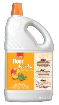 Средство ароматизированное для мытья пола 4 в 1 Sano Fresh Персик 2 л (7290003015627)