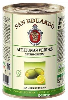 Оливки San Eduardo фаршированные лимоном 300 мл (5060235654121)