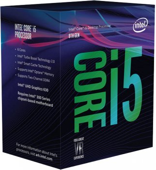 Процесор Intel Core i5-8600 3.1GHz/8GT/s/9MB (BX80684I58600) s1151 BOX