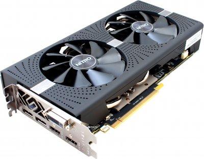Sapphire PCI-Ex Radeon RX 570 Nitro+ 8GB GDDR5 (256bit) (1340/7000) (DVI, 2 x HDMI, 2 x DisplayPort) (11266-09)