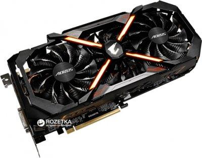 Gigabyte PCI-Ex GeForce GTX 1080 Ti Aorus 11GB GDDR5X (352bit) (1569/11010) (DVI, 3 x HDMI, 3 x Display Port) (GV-N108TAORUS-11GD)