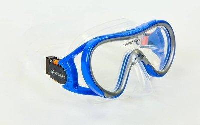 Набор для плавания подростковый маска с трубкой Zelart M161-SN93-SIL синий