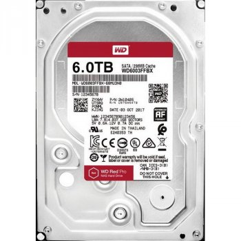 HDD SATA 6.0 TB WD Red Pro NAS 7200rpm 256MB (WD6003FFBX)