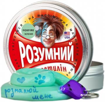 Розумний пластилін Thinking Putty Foxfire Зелений фантом (ti17002/1) (8594164761669)