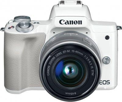 Фотоаппарат Canon EOS M50 Kit 15-45 IS STM White Официальная гарантия! (2681C057AA)