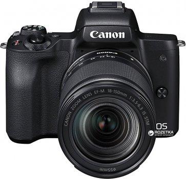 Фотоаппарат Canon EOS M50 Kit 18-150 IS STM Black Официальная гарантия! (2680C056AA)