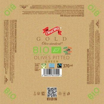 Зелені оливки Diva Oliva Gold без кісточки Біо 370 мл (5060235653209)