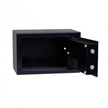Сейф мебельный Ferocon, модель БС-20Е.9005, из стали с электронный замок черный (533970)